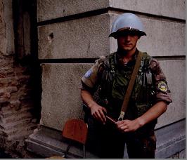 Український миротворець у Сараєво