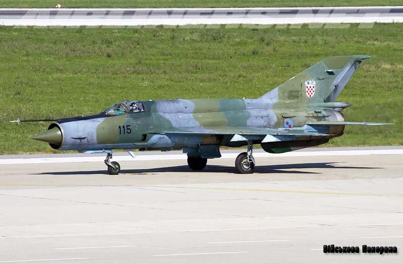 Модернізація МіГ-21 ВПС Хорватії на Одеському авіаційному заводі