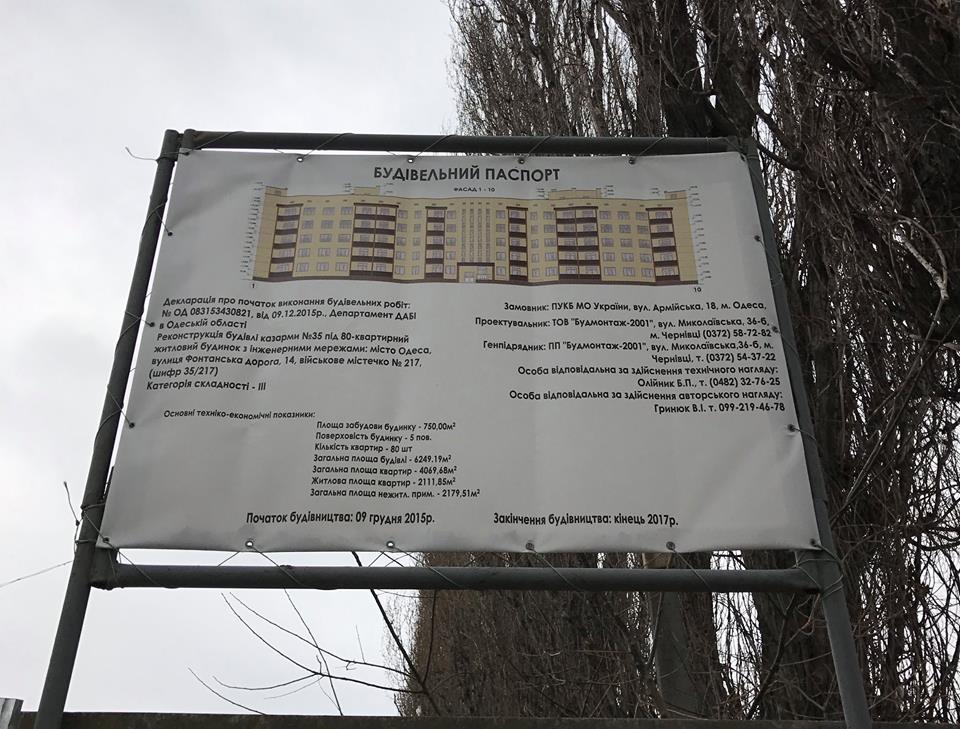 Будівельний паспорт 80-ти квартирного будинку в Одесі
