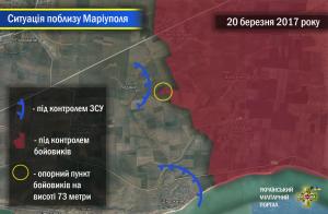 Загострення поблизу Маріуполя – є інформація про знищену позицію російсько-терористичних військ.