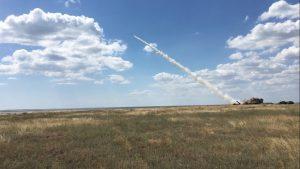 Президент України був присутній при чергових запусках високоточної керованої ракети