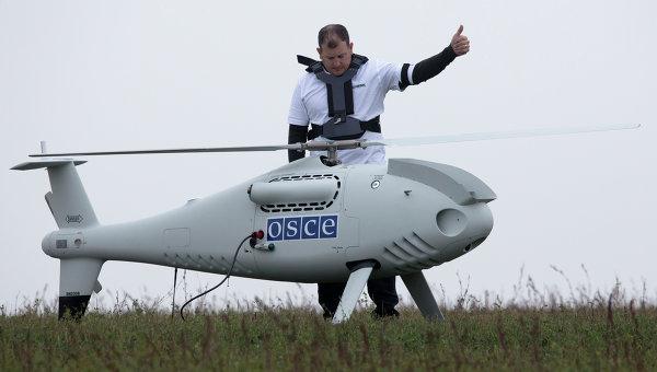 Під час обльоту БПЛА ОБСЄ зафіксував розміщення заборонене мінськими домовленостями озброєння поблизу лінії розмежування