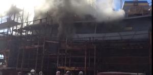 На водолазному судні ВМС України сталась пожежа