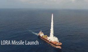 Ізраїль провів випробування пусків ракет комплексу LORA з вантажного корабля