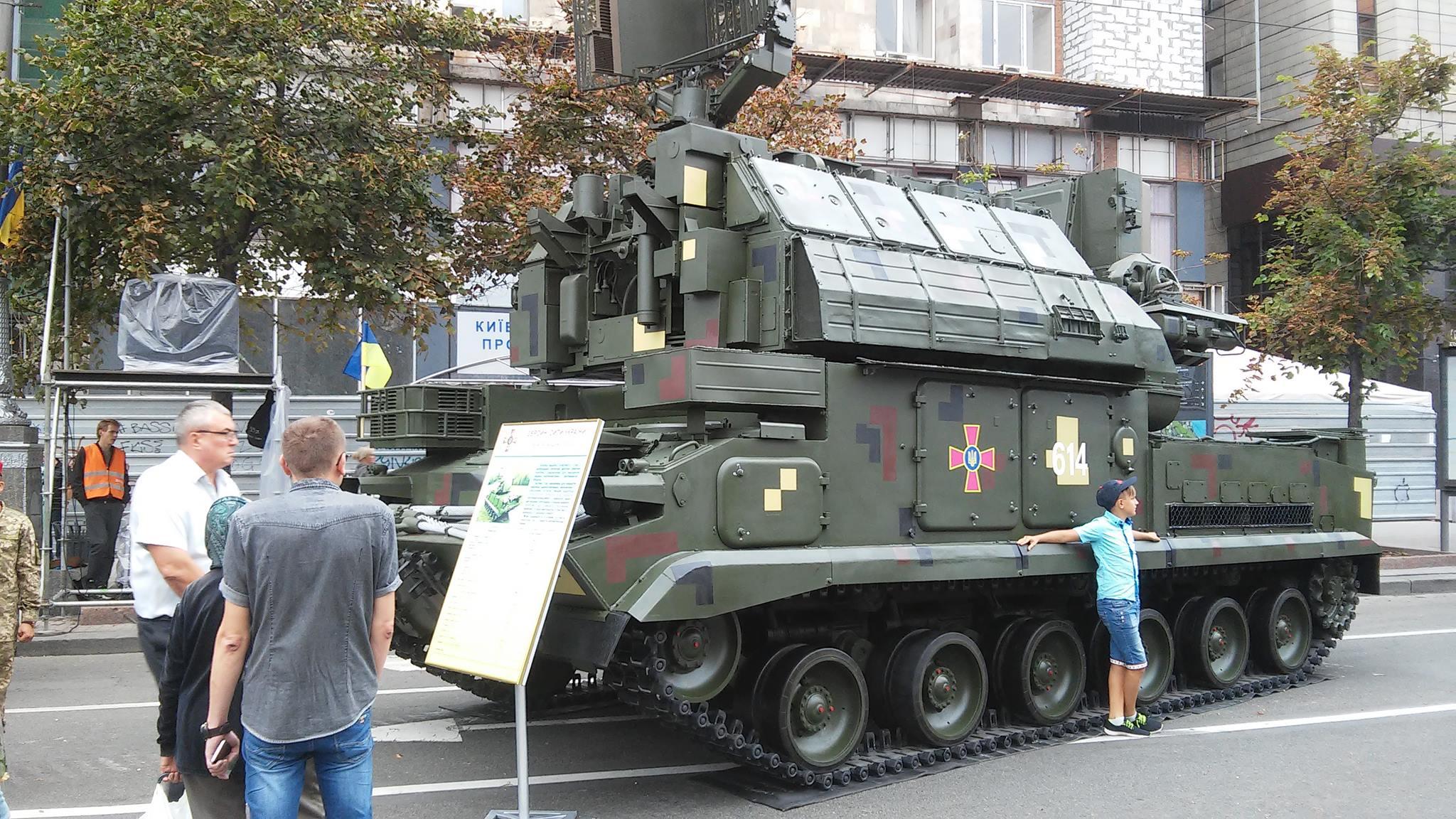ЗРК «Тор» під час параду Незалежності у Києві в 2017 році