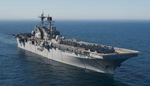 Десантний корабель USS Makin Island став у сухий док