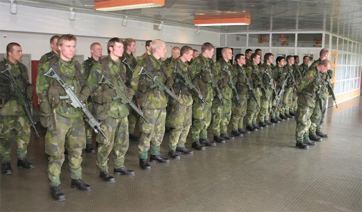 Військовослужбовці ЗС Швеції