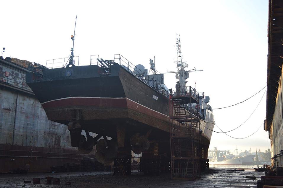 Стан корпусу корабля «Вінниця» у 2017 році