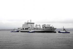 MS Asterix Королівських ВМС Канади розпочав ходові випробування