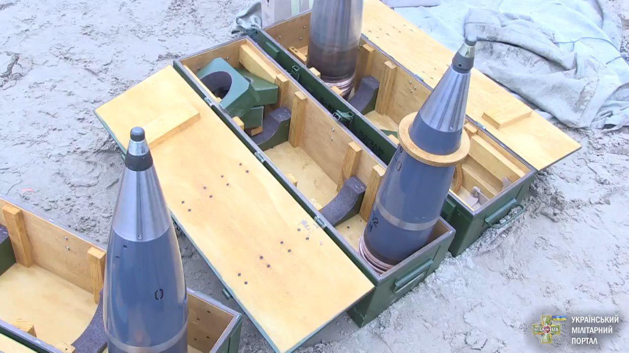 152 мм артилерійський снаряд виробництва ДАХК «Артем» на випробуваннях
