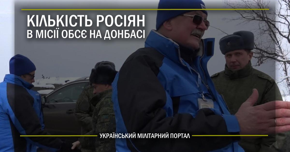 Кількість росіян в місії ОБСЄ на Донбасі