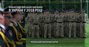 Міжнародні військові навчання в Україні у 2018 році