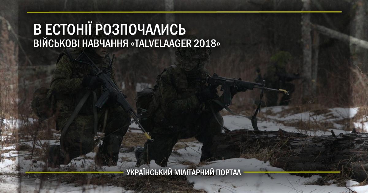 """В Естонії розпочались військові навчання """"Talvelaager 2018"""""""