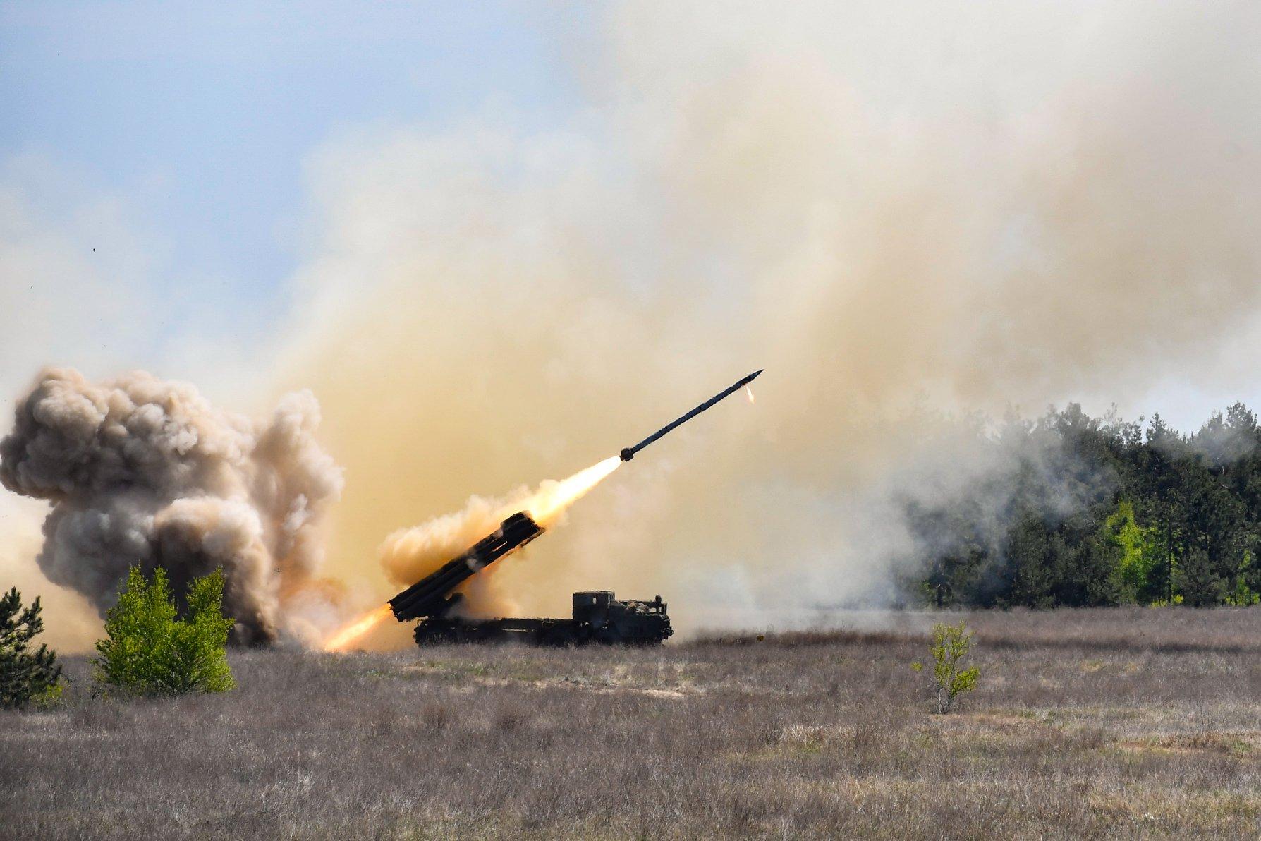 Пуски ракет «Вільха» 25 квітня 2018 року