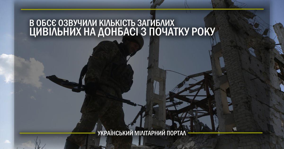 В ОБСЄ озвучили кількість загиблих цивільних на Донбасі з початку року
