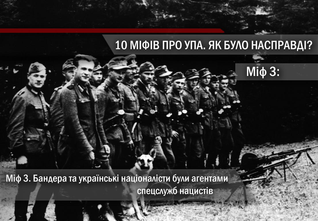 Міф 3. Бандера та українські націоналісти були агентами спецслужб нацистів