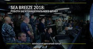 Sea Breeze 2018: робота багатонаціонального штабу
