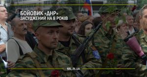 """Бойовик """"ДНР"""" засуджений на 8 років"""