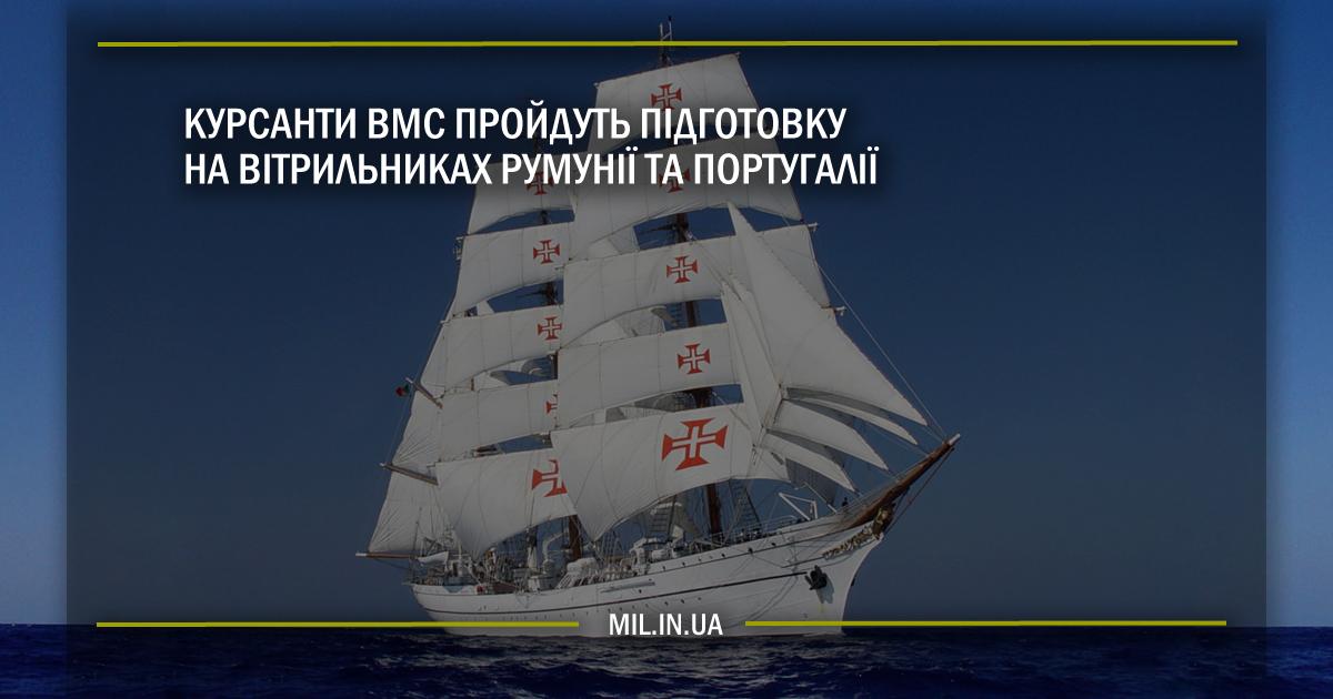 Курсанти ВМС пройдуть підготовку на вітрильниках Румунії та Португалії