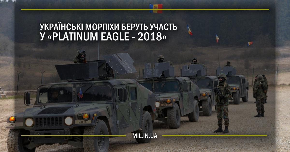Українські морпіхи беруть участь у «Platinum Eagle-2018»