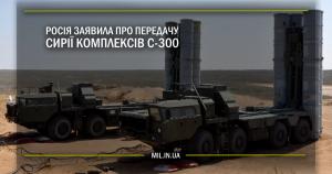 Росія заявила про передачу Сирії комплексів С-300