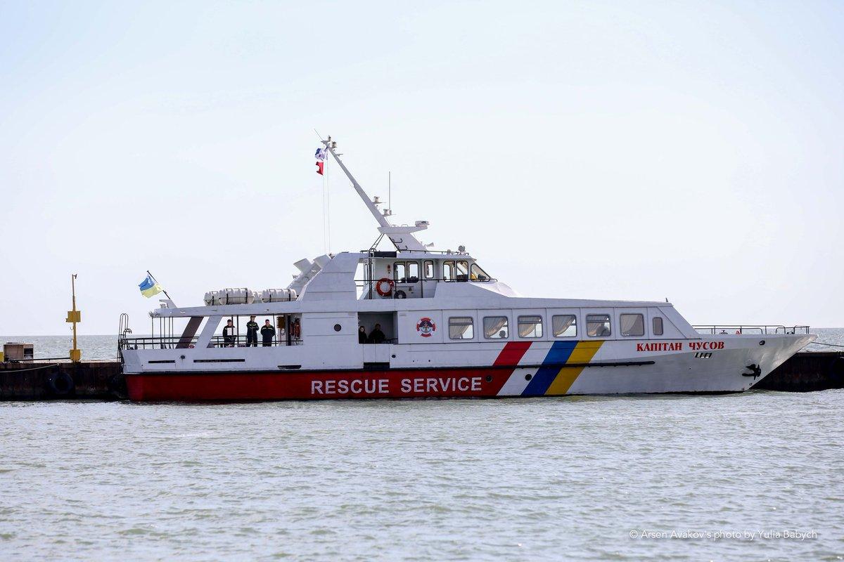 Судно «Капітан Чусов» частини водолазних пошуково-рятувальних робіт акваторії Азовського моря ДСНС