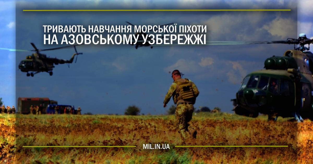 Тривають навчання Морської піхоти на азовському узбережжі