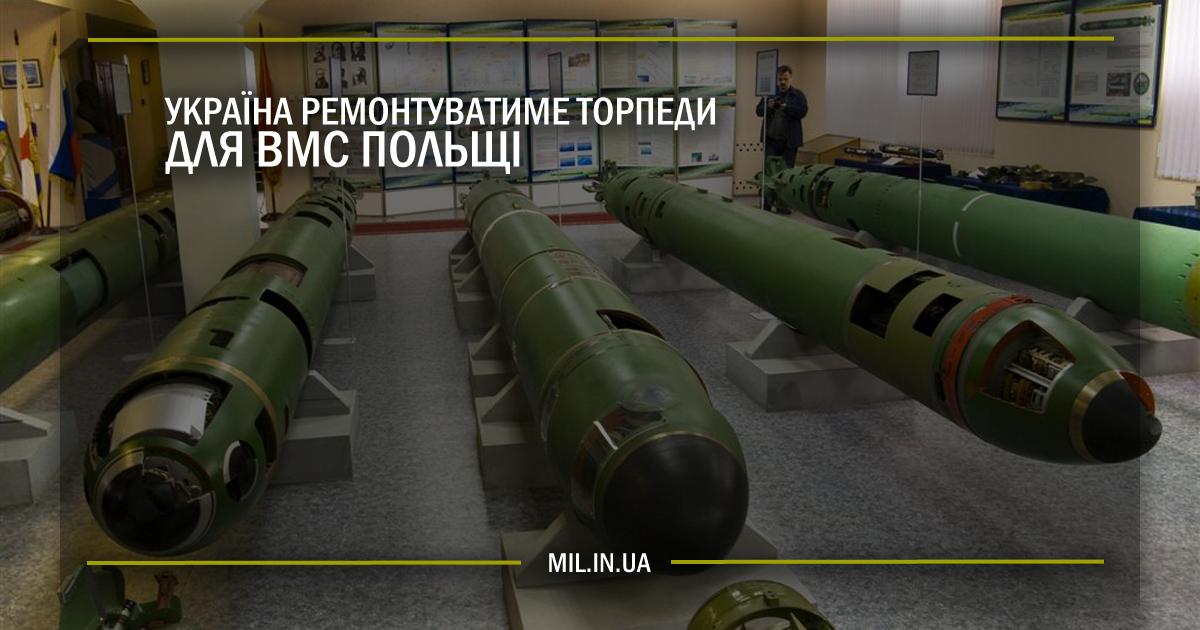 Україна ремонтуватиме торпеди для ВМС Польщі
