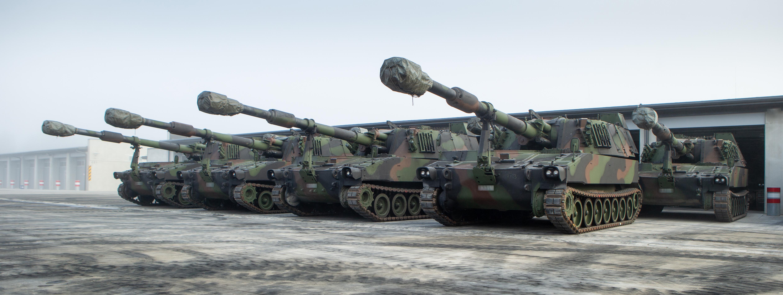 САУ M109A5Oe латвійської армії