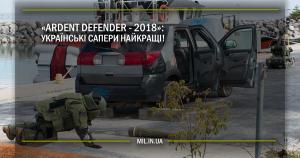 «Ardent Defender – 2018»:  українські сапери найкращі!
