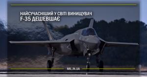 Найсучасніший у світі винищувач F-35 дешевшає
