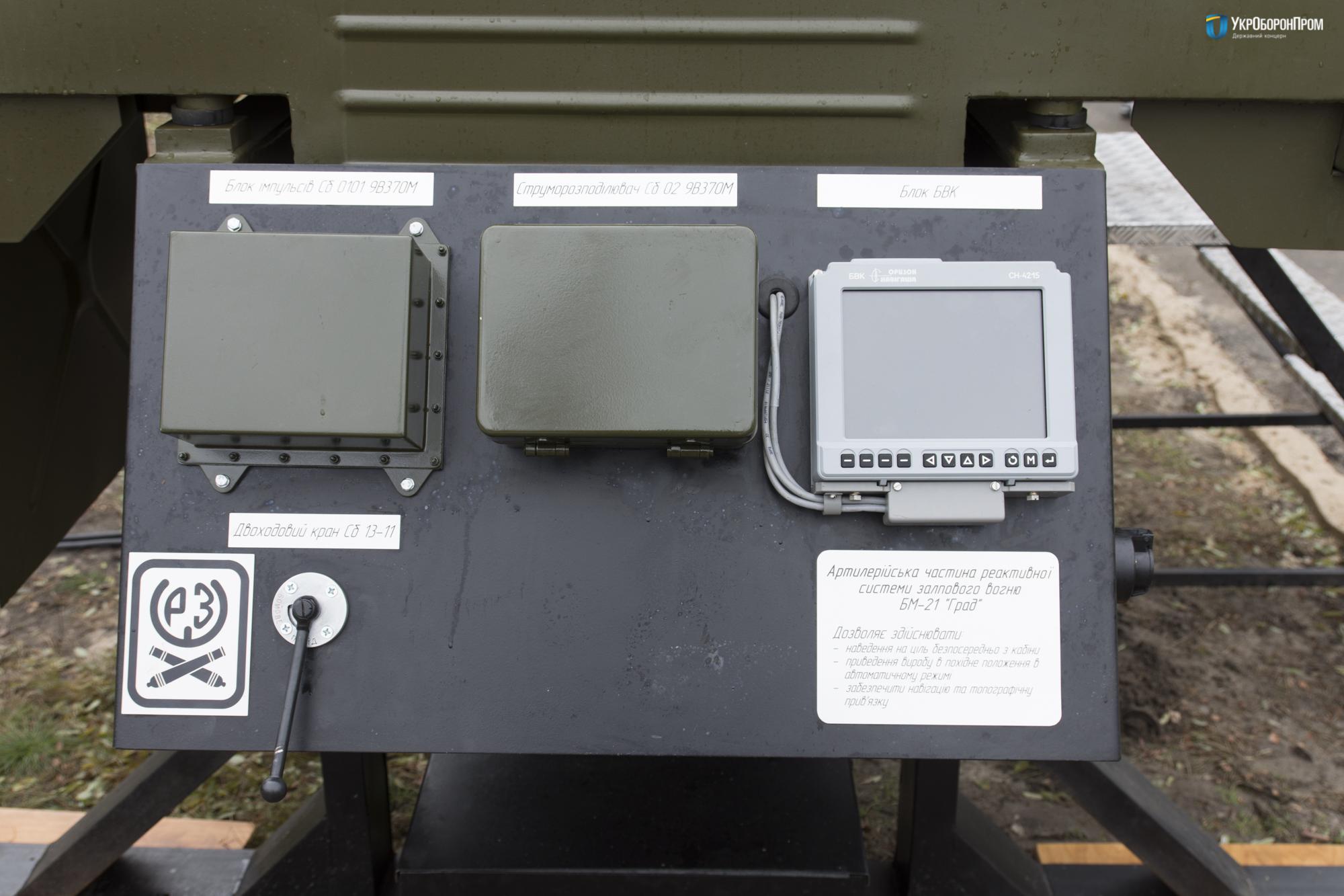 Система управління артилерійською частиною РСЗВ БМ-21У