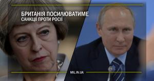 Британія посилюватиме санкції проти Росії