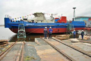 """Спуск буксиру пр. POSS-115 на суднобудівному заводі """"Нібулон"""""""