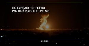 По Ізраїлю нанесено ракетний удар з Сектору Гази