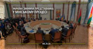 Україна змінила представника у Мінському процесі