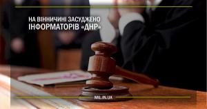 На Вінничині засуджено інформаторів «ДНР»