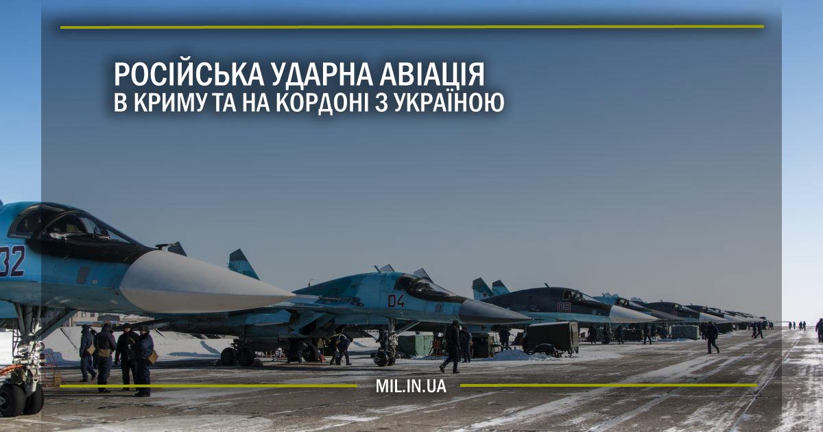 Російська ударна авіація в Криму та на кордоні з Україною