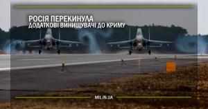 Росія перекинула додаткові винищувачі до Криму