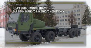 КрАЗ виготовив шасі для вітчизняного ракетного комплексу