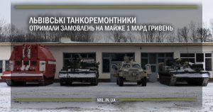 Львівські танкоремонтники отримали замовлень на майже 1 млрд гривень