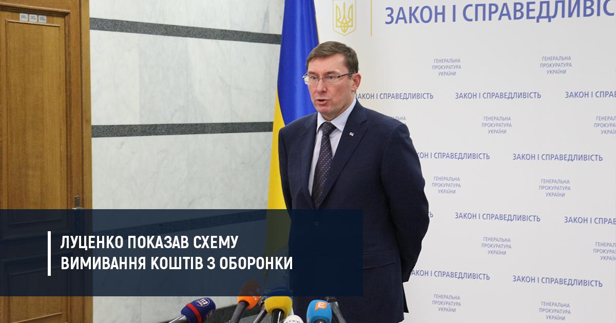 """Генпрокуратура показала корупційну схему пов'язану з підприємствами """"Укроборонпрому"""""""