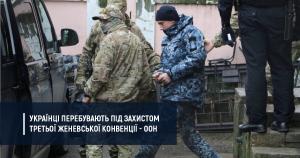ООН: українські моряки є військовополоненими
