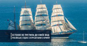 Естонія не пустила до своїх вод російське судно з курсантами з Криму