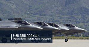 F-35 для Польщі: надіслано запит на комерційну пропозицію