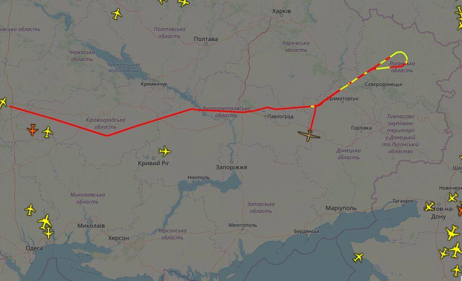Маршрут польоту RQ-4B-30 Global Hawk 14 травня 2019 року