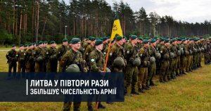Литва у півтори рази збільшує чисельність армії