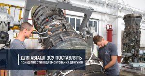 Для авіації ЗСУ поставлять понад півсотні відремонтованих двигунів
