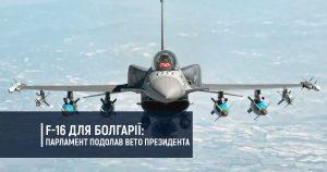 F-16 для Болгарії: парламент подолав вето президента