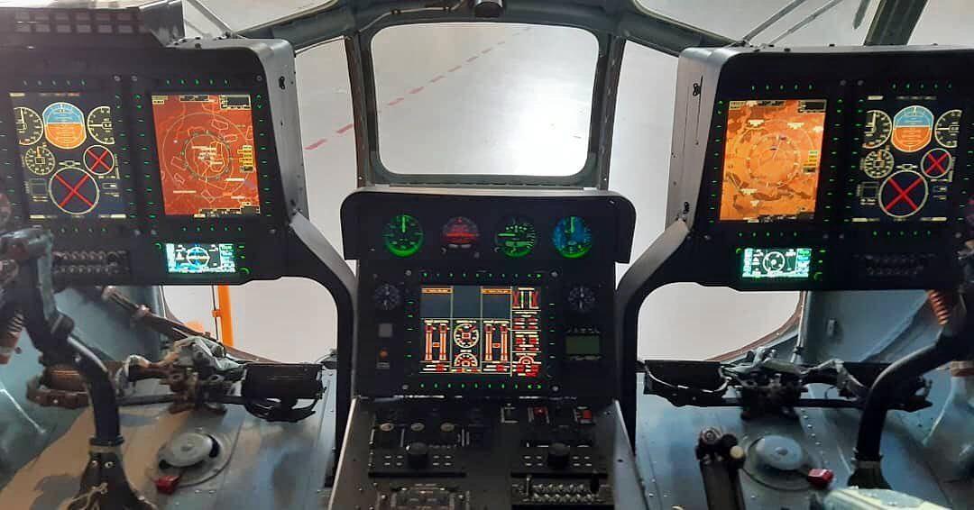 Нова панель кабіни пілотів гелікоптера Мі-8МСБ розробки Мотор-Січ